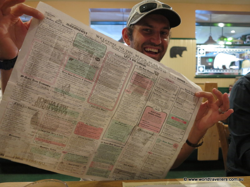 The menus were printed onto newspaper