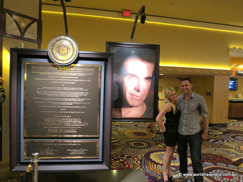 Before the David Copperfield Show at MGM Grand